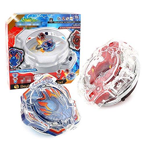 l Set | 4D Fusion Modell Metall Masters Beschleunigungslauncher Speed Kreisel mit Basis-Arena | Kinder Spielzeug Beste Geschenk für Kindertag, Ostern, Weihnachten, Geburtstag und Neues Jahr (Kit 3) (3 Beyblade Set)