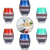 Mini waterkraan waterfilter, BETOY 6 stuks actieve koolstof-ronde kraan water filter - Mini Home Coconut actieve koolfilter -