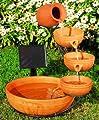 Sunny fountains P 004 A Solar-Kaskadenbrunnen Terrakotta von Sunny fountains - Du und dein Garten