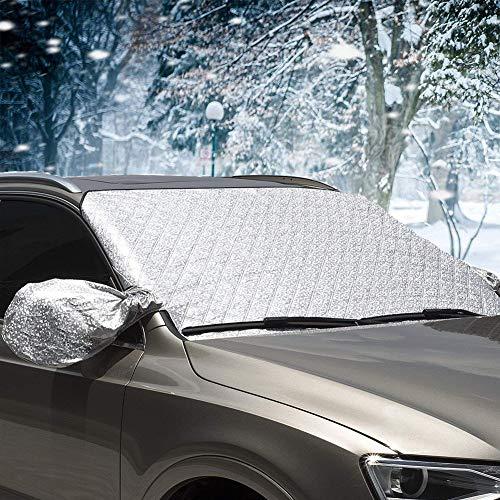 Protector para Parabrisas, Protector de Parabrisas Coche Antihielo y Nieve proteja Bien el Parabrisas del vehículode la Escarcha y la Nieve en Invierno