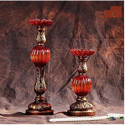 Stile Europeo ornamenti Vintage Portacandele attrezzature,l'agata Coppia rosso