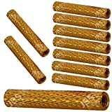 [ JBS basics ] M3 Abstandshalter rund [ 25 mm & 30 mm & 35 mm ] rändel knurled eloxiert Aluminium Alu [ Blau & Rot & Gold & Schwarz & Grün & Lila ] Frame Standoff Spacer (10 x M3x30mm rändel, Gold)