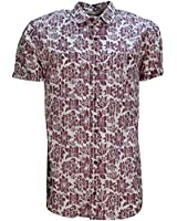 Men's Soulstar Floral Print Short Sleeve Designer Shirt Casual Summer Printed Top