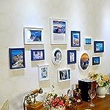 Galleria fotografica X&L Salone di legno solido foto parete cornice stile di muro combinazione di telaio a muro foto creativa , white...