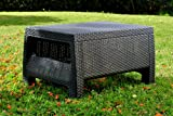 Keter Corfu Rattan Outdoor Garden Furniture Coffee Table - Graphite