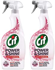 Cif Power & Shine Multipurpose Cleaner With Powerful Anti-Bac Agents 700ml Pack Of 2