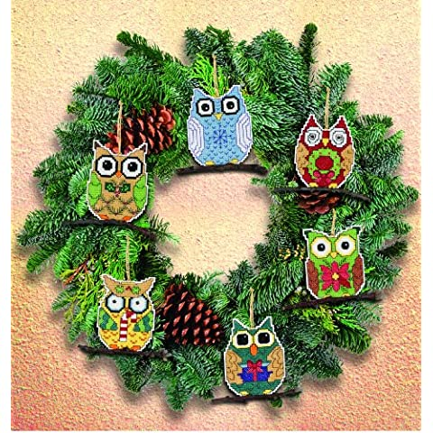 Owl Ornaments Counted Cross Stitch Kit-3