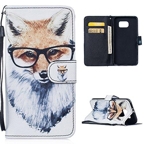Casefirst , Samsung Galaxy S6 G9200 Case Wallet Leather, Samsung Galaxy S6 G9200 Case with Card Holder and Kickstand, Samsung Galaxy S6 G9200 Wallet Case with Shell , Shell Case Cover for Samsung Galaxy S6 G9200 Dog (Service-dog Clip)