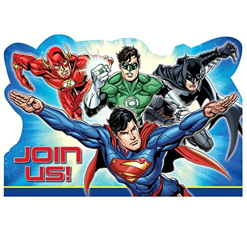 8 Justice League Party Einladung Batman The Flash Superman Green Lantern Laden Set Postkarte für