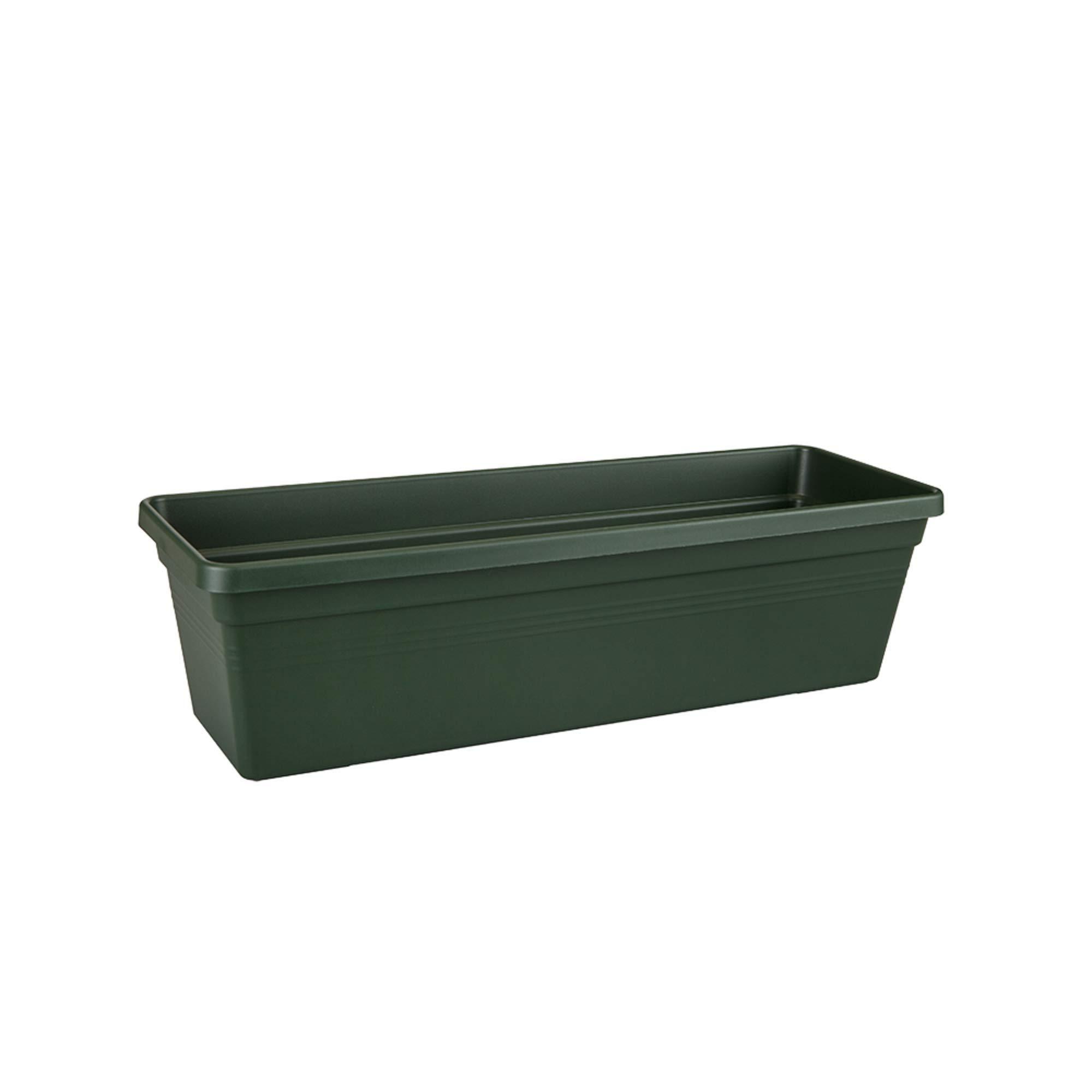 Elho Basics Trough Jardinera, 6 litros, Verde(Leaf Green), 39×16,5×13,7 cm