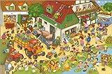 Poster 90 x 60 cm: Ferien auf dem Bauernhof von Marion Krätschmer - hochwertiger Kunstdruck, Kunstposter