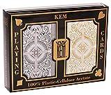 US Playing Card Co. KEM - Carte da poker Arrow Black e Gold Narrow, indice standard [importato dalla Germania]