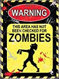 Warning Zombies Cartel de Chapa Placa metal Estable plano Nuevo 30x40cm VS4385-1