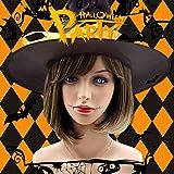 Rabbitgoo Perücke kurz Flaxen glatt Bob für Halloween Cosplay Karneval Disco Party natürlich wie echte haare für Frauen (Kunsthaar Braun)