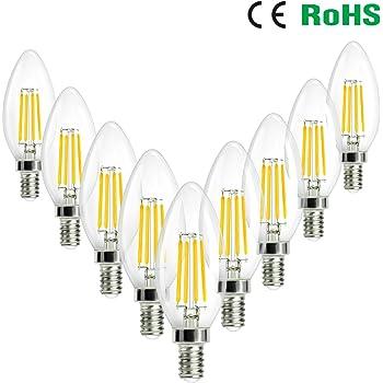 SHINE HAI 9er Pack LED Lampe E14 4W LED Glühfaden, LED Birne als ...