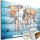 murando - Cuadro - Tablero de corcho 120x80 cm - Cuadro sobre corcho - Poster Mapamundi Continente - k-C-0035-p-h