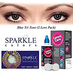 Sparkle Monthly Contact Lens - 2 Units (-9, Blue)