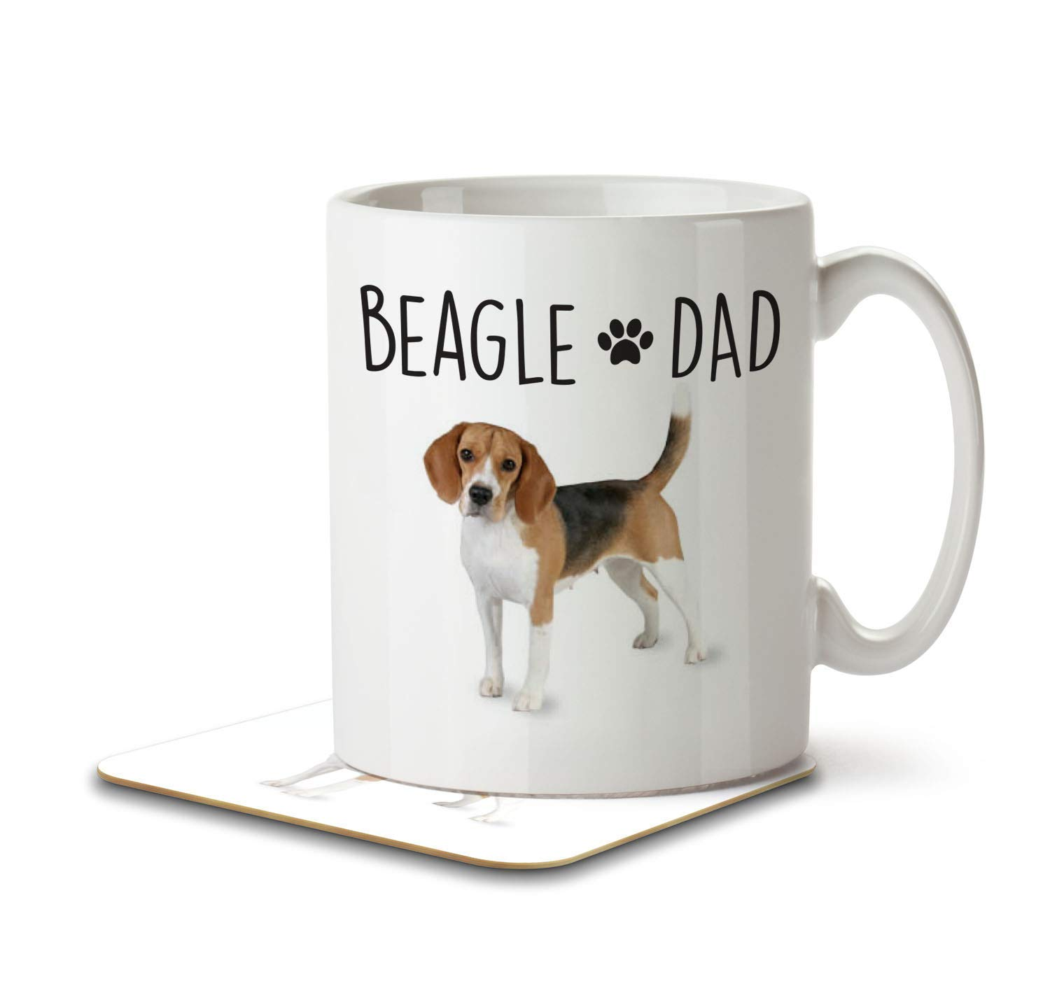 Beagle Dad – Mug and Coaster by Inky Penguin