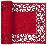 Clayre & Eef FE065.004R Tischläufer Tischdecke rot ca. 30 x 120 cm