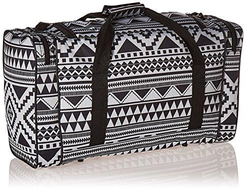 Set von 2 World 's leichteste (nur 0,5 kg.) Cabin Größe Reisetasche - Passt Ryan Air/Easy Jet 55 x 40 x 20 - Flug Tasche. Tatsächliche Dimension 54 x 30 x 20, Massive 32l Fassungsvermögen (Set von 2,  Aztekisch schwarz