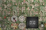 ZQHXW Tapeten American Vintage Nachahmung Holz Pflanze Hintergrund Wand Blume Wand Zaun Persönlichkeit Blumenrahmen PVC-Tapete Schlafzimmer Wohnzimmer TV Hintergrund Tapeten 10 * 0,53 (M)