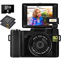 YinFun Digitalkamera 30 MP Fotoapparat Digitalkamera 2.7K Full HD Vlog…