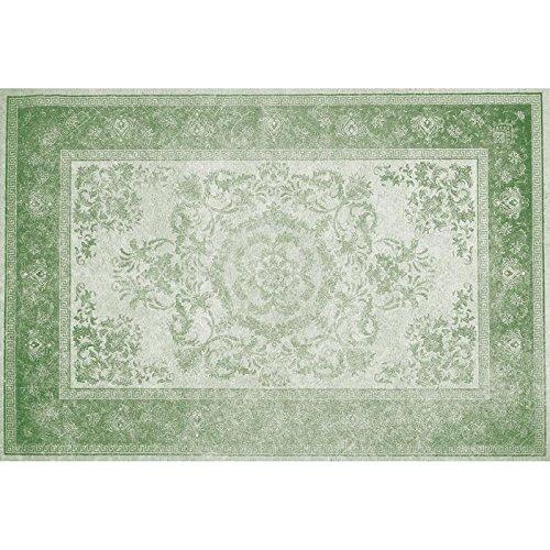 Flooralia - Alfombra Vinilica Vintage, 143x97cm, Verde