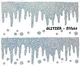 alles-meine.de GmbH 0,8 m _ Fensterbild -  Eiszapfen / Eiskristalle / Winter  - Glitzer / GLITTE..