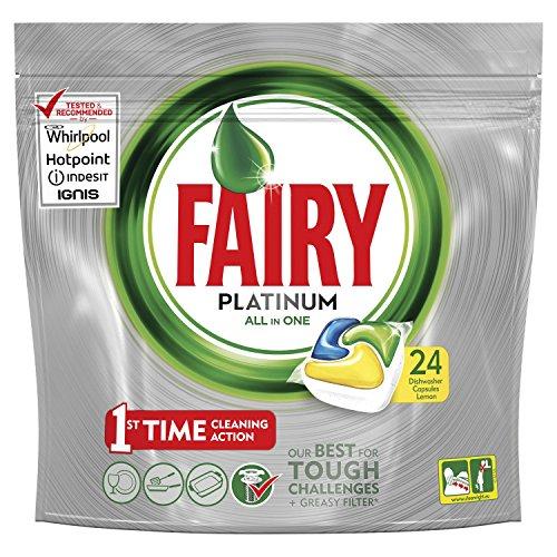 fairy spuelmaschinentabs Fairy Platinum Tabs für Spülmaschine – Packung von 24 x 17.54 GR – insgesamt: 421 GR