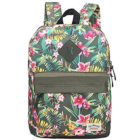 Vivahouse vielseitige modische Schultasche, stylischer Rucksack für Teenager, Schüler und