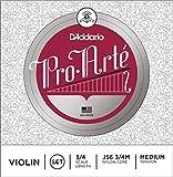D'Addario Orchestral J56 Pro Arte 3/4 M - Juego de cuerdas violín