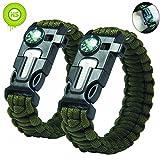 Kiwi Sweet 2 Stücke grün Survival Überleben Paracord Armband mit
