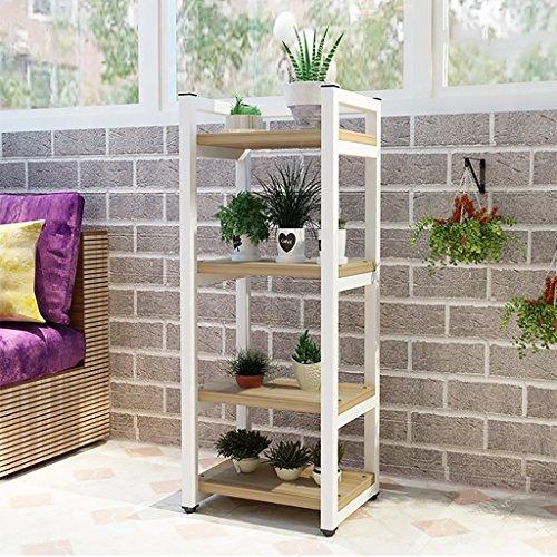FPigSHS 4 Floor Blumenständer Iron Art Wohnzimmer Schlafzimmer Balkon Indoor und Outdoor Platz Sparen Regal Landing Verschiedenes Regal Lagerregal Blumentopf (Farbe : C) (4 Regal-metallic-bücherregal)