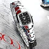 FENKOO Schöne Armbanduhren Ultradünne Damenuhr Damenuhr Quarz weibliche Wolfram Stahl Damenuhr Herren Armbanduhr (Color : 3)