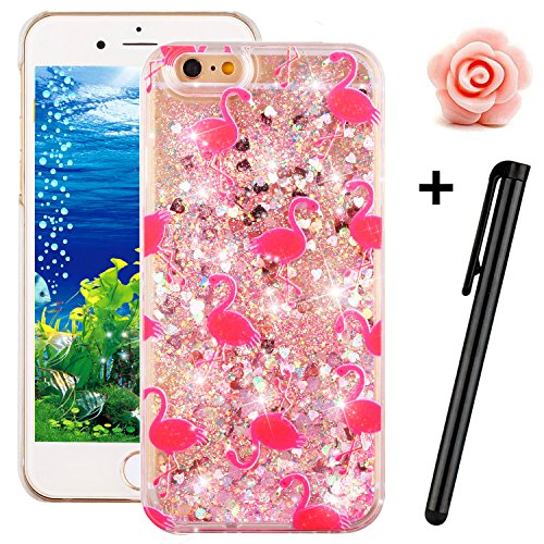 iPhone 5 5S Glitter Case,Tebeyy Transparent Clear Floating Sparkle Hearts Liquid Bling Case for iPhone SE,Luxury Cute 3D Creative Moving Love Hearts Stars Hard Protective Shell for Apple iPhone SE/5 5S-Bird#1 Test