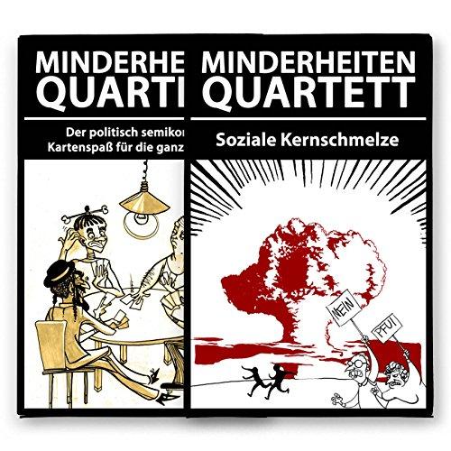 Preisvergleich Produktbild Minderheiten-Quartett - Set aus Basisspiel plus Erweiterung - Das politisch semikorrekte Kartenspiel.