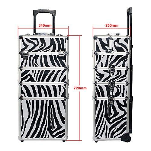 Kosmetikkoffer Trolley in XXL – Zebra - 2