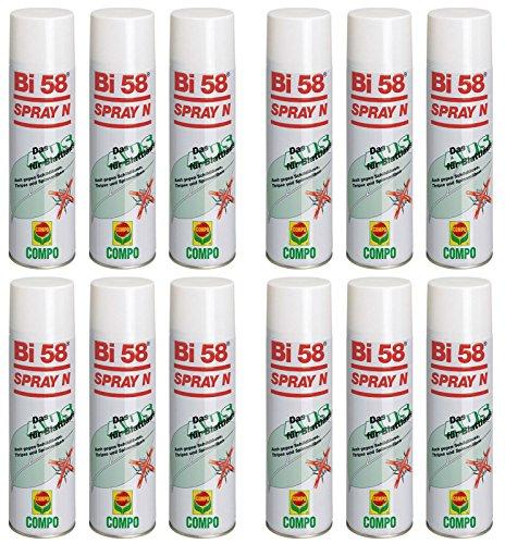 GARDOPIA Sparpaket: 12 x 400 ml Compo Bi 58 'N' Spray, Insektenmittel gegen Blattäuse Milben...