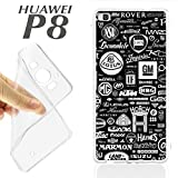 Case Housing + Glass Screen Protector (Optional) Huawei Ascend P8 Gel Brands of Cars Autos Spare Parts K237