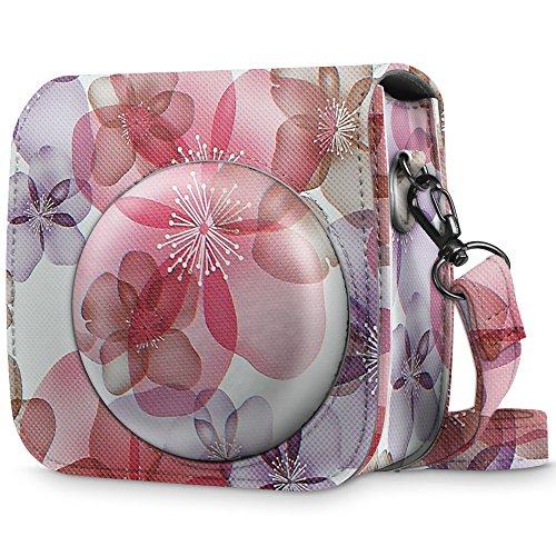 Fintie Tasche für Fujifilm Instax Mini 8 / Mini 9 Sofortbildkamera - Premium Kunstleder Schutzhülle Reise Kameratasche Hülle Abdeckung mit abnehmbaren Riemen, Traumblüten