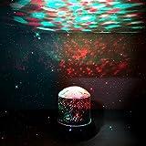 Projektionslampe, DIGOO DG-SNL Sternennacht-Projektionslampe, Stadiums-Licht, Partei-Licht, blinkend, 4 LED-Korne, Farbe änderbar, Lampenlichter von 4 Farbe