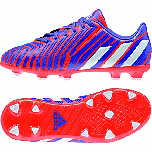 Predator Absolado Instinct FG Enfants - Chaussures de Foot Blanc/Noir/Rouge Solaire BLACK1/CHALK2/LGTSCA