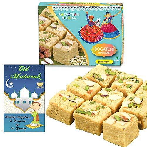 BOGATCHI Traditions Soan Papdi, Eid Mubarak Gift Pack, Premium Eid Special Gift,...