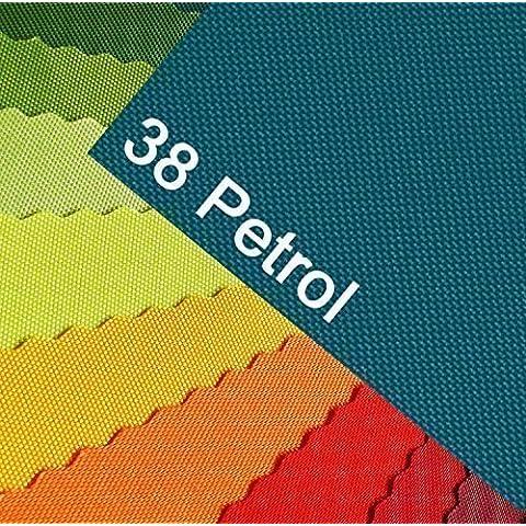 OXFORD 600D Colore 38 petrolio-turchese oceano stoffa in poliestere 1 lfm OUTDOOR impermeabile resistente agli strappi in PVC copertura per tela Tenda Zaino Borsa