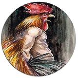 Design Art Wand art-disc 27,9cm, braun, 27,9x 27,9cm