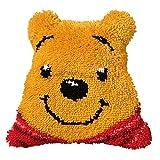 Vervaco PN-0014643 Formkissen Winnie The Pooh Knüpfpackung zum Selbstknüpfen eines Kissens, Stramin, Weiß, 39 x 0, 30 cm