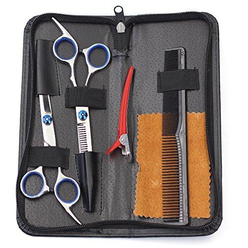 Professionell Haarscheren Sets–qidoou Friseur Barber Schere Werkzeug-Sets mit Haar Schneiden neigen Haar Effilierschere–Professionelle Qualität Home Haar Schneiden Kit für Männer Frauen (Haar-scheren Set)