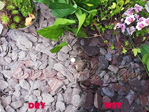 Trucioli di ghiaia pietra di ardesia Deter erbacce da giardino Patio Percorso Plant superficiale-40mm, motivo: ardesia, 10 kg
