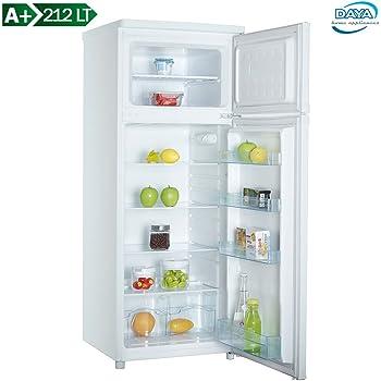 DAYA DDP-29H4 Freestanding 212L A+ White fridge-freezer - Fridge-Freezers (212 L, No Frost (fridge), N-ST, 2 kg/24h, A+, White)