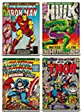 Marvel Comics Lot de 4dessous de verre Motif comics rétro